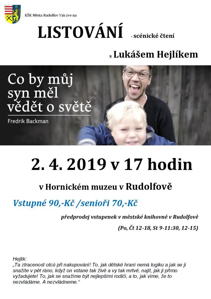 Listování 2019_plakát